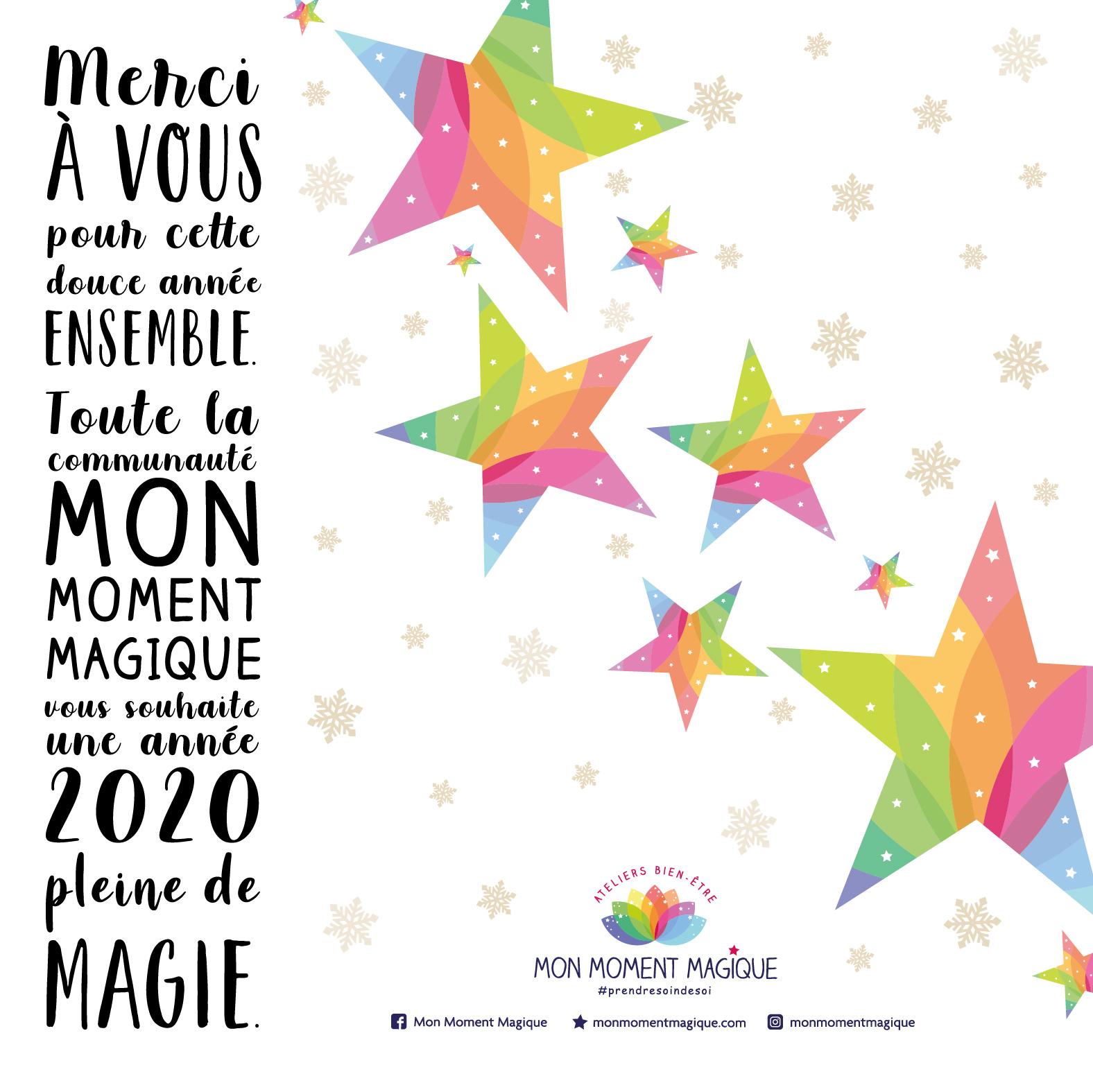 On vous souhaite une année magique !